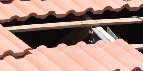 tiles are missing On the roof